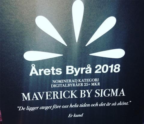 Maverick by Sigma raketklättrar i Årets Byrå