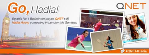 Egypt Olympian Hadia Hosny makes QNET proud