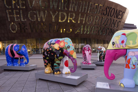 Elephant Parade visits Cardiff