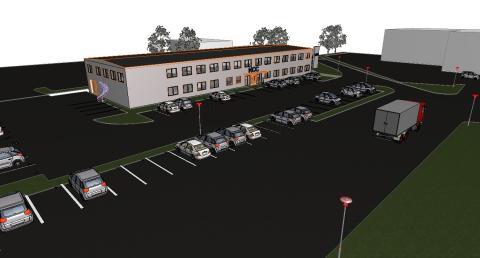 NCC Industry hyr nybyggt kontor och stenlaboratorium av Ytterbygg