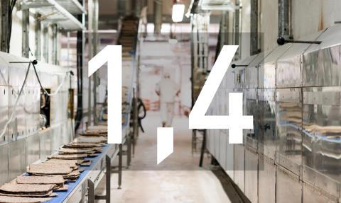 Budet från industrins arbetsgivare: 1,4 procent i löneökningstakt