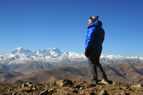 Hisnande vyer över Himalaya.