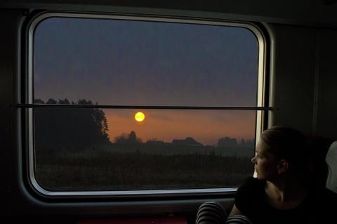 Utsikt från nattåg