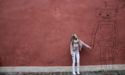 Affischbild, beskuren - Malumma & Takete, Mjukt möter Hårt