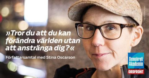 Författarsamtal med Stina Oscarson