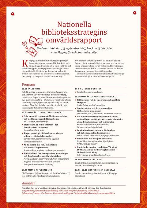 Konferensprogram och inbjudan 13 september