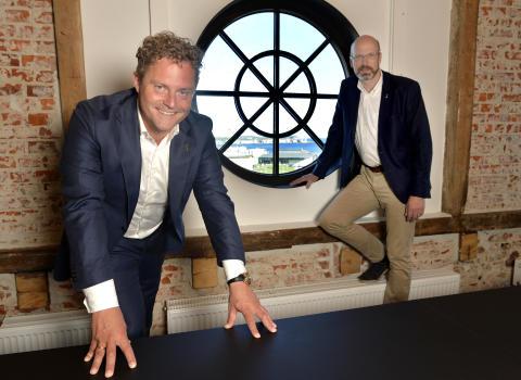 Bjørn Erik Helgeland, COO en Petter Quinsgaard, CEO