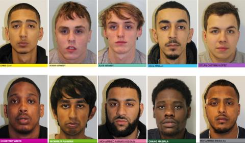 Ten jailed for over 110 years for series of moped-enabled aggravated burglaries