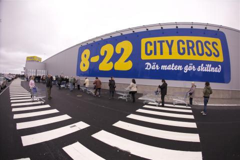 Säljrekord när City Gross Jönköping öppnade