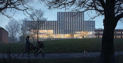 Förslag LITTERATEN, arkitekttävling universitetsbiblioteket