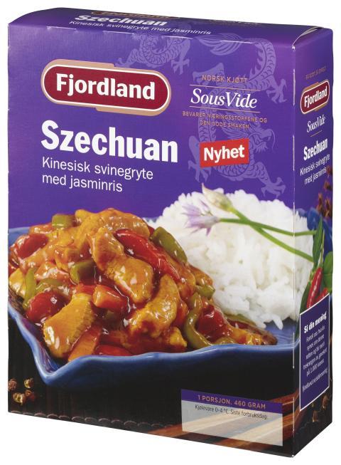 Fjordland Szechuan - kinesisk svinegryte med jasminris