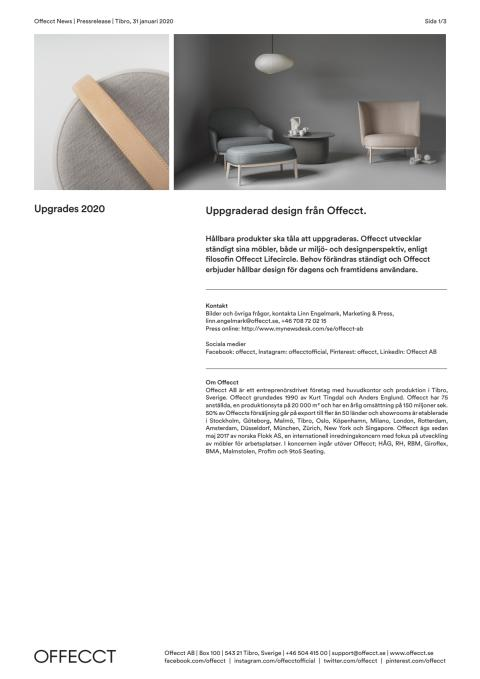 Offecct Press release Upgrades 2020_SE