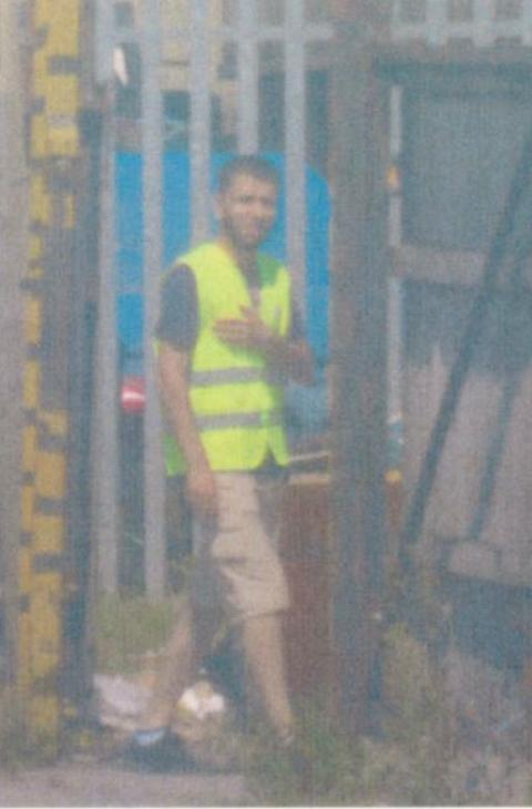 Op Fuzzy - Surveillance photo of Meahrabi in Sandbach