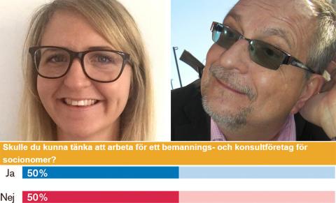 Hälften av Sveriges socionomer kan tänka sig att bli konsult