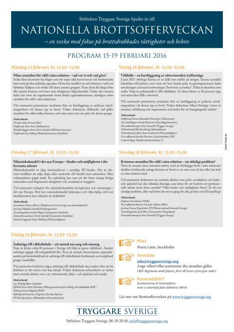 Program Nationella Brottsofferveckan 2016