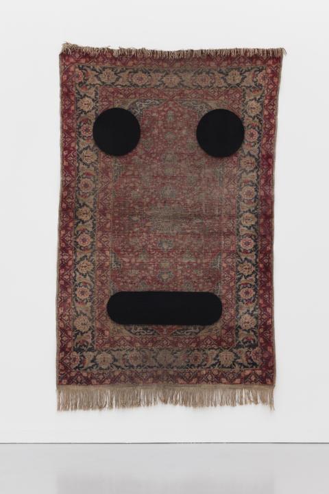 Peter Liversidge Carpet Face #3, 2017
