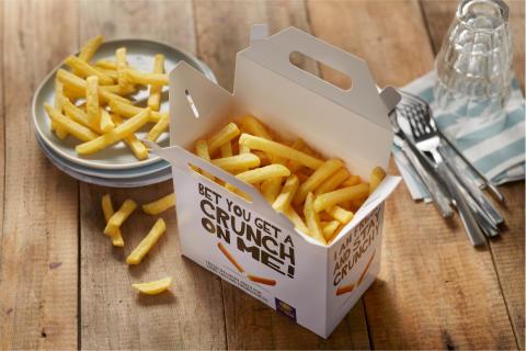 Färsk pommes frites som är krispig extra länge - hett eftertraktat av konsumenterna