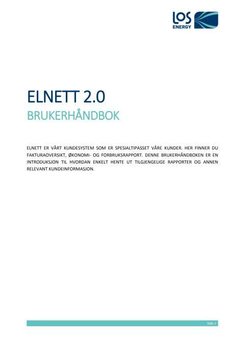 Elnett 2.0: Brukerhåndbok