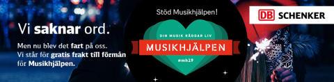 Gratis frakt under Musikhjälpen 2019
