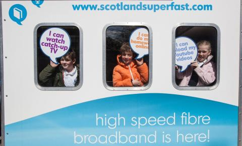 Fibre broadband showcase is rolling in to Tillicoultry