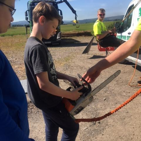 Students get hands-on tasters of career options in land industries