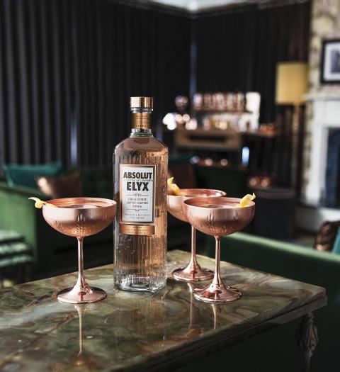 Elyx Copper Coupe Martini
