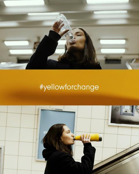 GLACIAL bakom kampanjen #yellowforchange