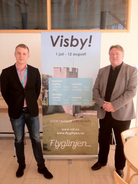 Flyglinjen flyger till Visby från Västerås