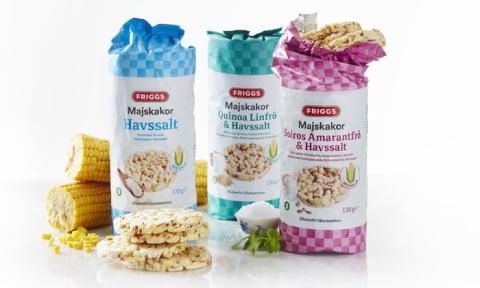 Majskakor en ny storfavorit - Nu släpper Friggs nya smaker med superfrö och havssalt