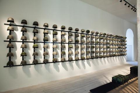 Tøjhusmuseet - udstilling af hjelme