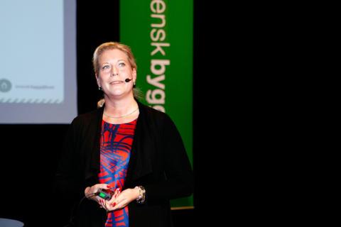 Infrastrukturminister Catharina Elmsäter-Svärd lovade bättre rustade järnvägsnät i vinter på Samhällbyggnadsforum