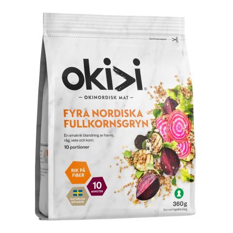 Okivi Fyra nordiska fullkornsgryn_frilagd produktbild