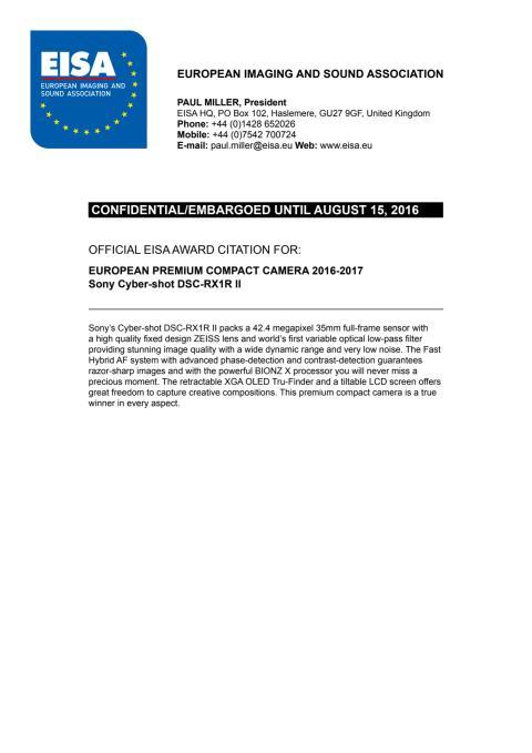 EISA Award Citation_Premium Compact Camera