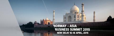 Reminder: Norway-Asia Business Summit, New Delhi 16-18 April 2015 - Registration Open