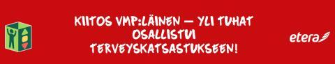 Kiitos VMP:läinen – Yli tuhat osallistui terveyskatsastukseen!