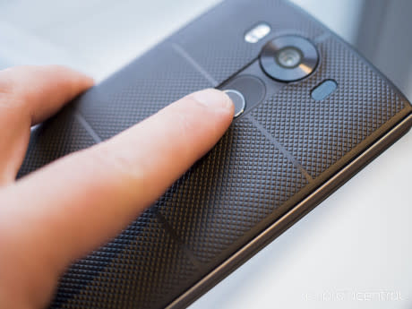 LG V10 - fingeraflæser