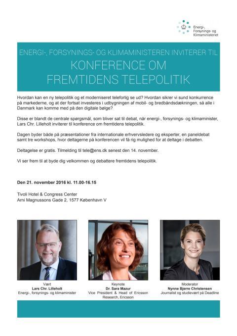 Program for konference om fremtidens telepolitik