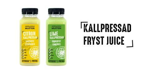 Fryst citron- och limejuice från Herrljunga