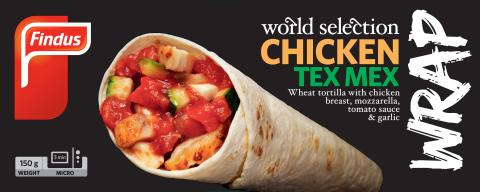 Findus World Selection Chicken tex mex wrap