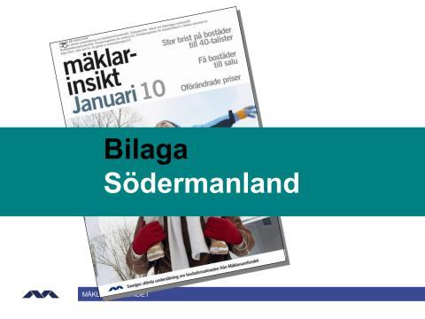 Mäklarinsikt januari 2010: Södermanland