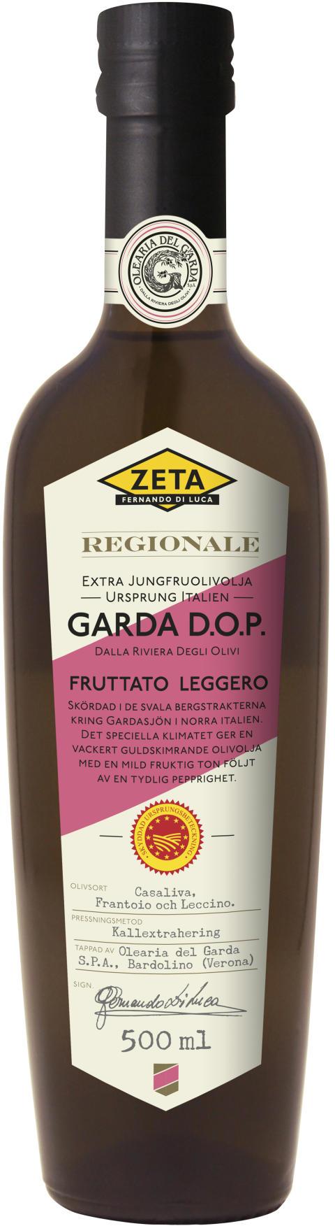 Guldskimrande olivolja från Gardasjön