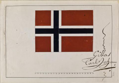 Godkjennelsen av det norske flagget