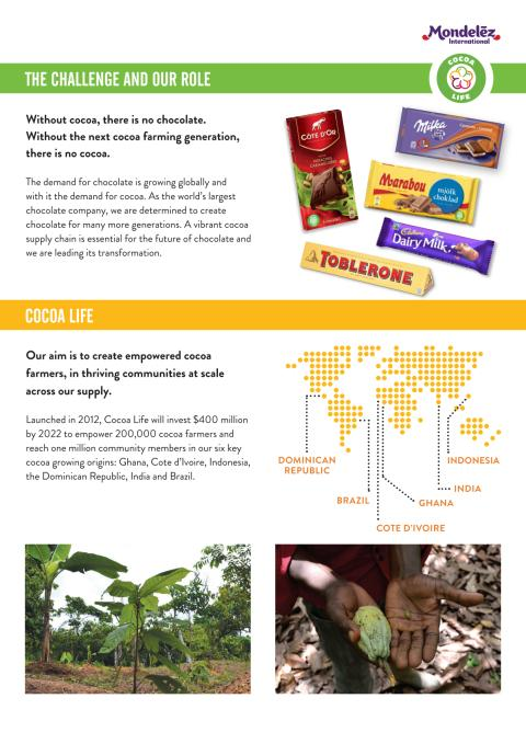 Cocoa Life Fact sheet