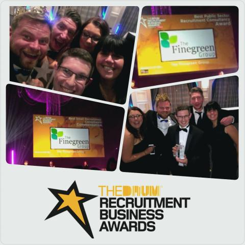 Finegreen named Best Public Sector Recruitment Agency at the Recruitment Business Awards 2016!