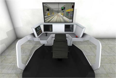 Simulator tunnelbanetåg C20, prototyp