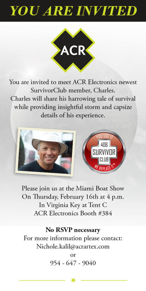 Image - Ocean Signal -  Invitation to ACR Electronics SurvivorClub event at Miami Boat Show