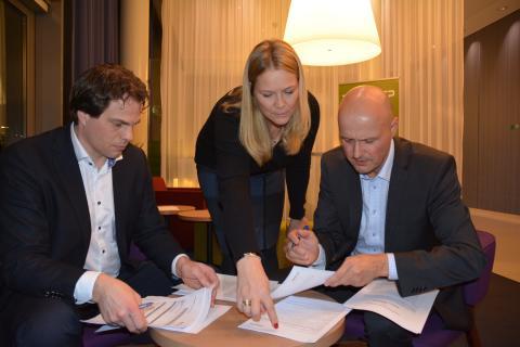 F.v. Erik Fossum Færevaag Marianne Styrman og Kjetil Bakke Eriksen