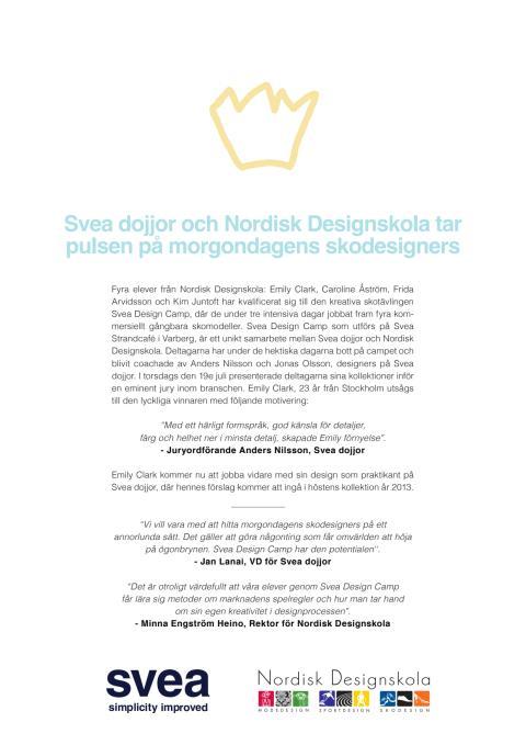 Vinnaren utlyst i Svea Design Camp!