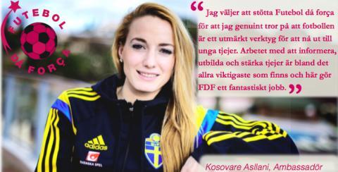Kosovare Asllani nyaste ambassadör för Futebol dá força