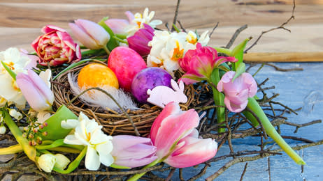 Easter, eggs, colorful, spring